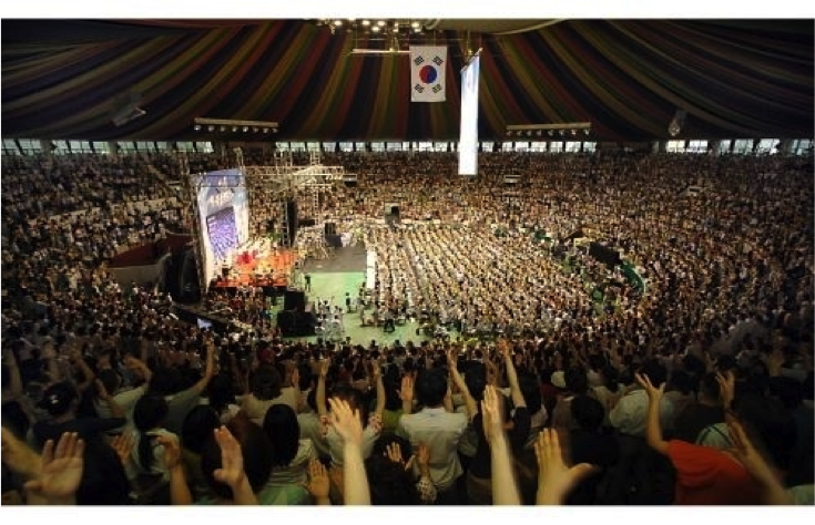 The Heavenly Holy Spirit Movement held in Jangchung Gymnasium